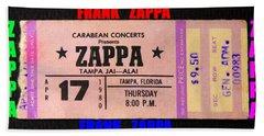 Frank Zappa 1980 Concert Ticket Hand Towel
