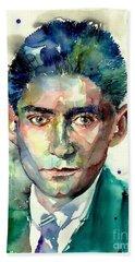 Franz Kafka Portrait Bath Towel