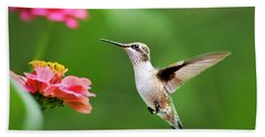Free As A Bird Hummingbird Bath Towel