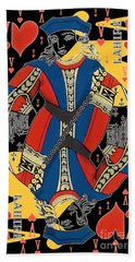 French Playing Card - Lahire, Valet De Coeur, Jack Of Hearts Pop Art - #2 Bath Towel