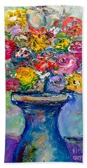 Bath Towel featuring the painting Fresh Flowers by Deborah Nell