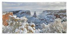 Fresh Snow At Independence Canyon Bath Towel