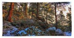 Bath Towel featuring the photograph Fresh Snow On Fillius Ridge by Dan Miller