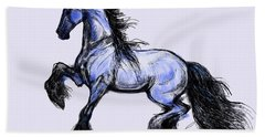 Friesian Mare Bath Towel