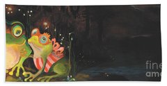 Frogs Of Silver Lake Hand Towel