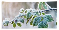 Frosty Leaves Hand Towel