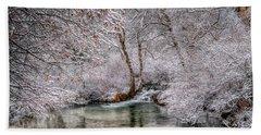 Frosty Pond Bath Towel