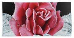 Frozen Rose Bath Towel