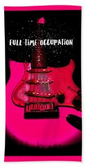 Full Time Occupation Guitar Hand Towel