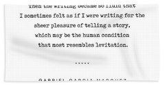 Gabriel Garcia Marquez Quote 02 - Typewriter - Minimal, Modern, Classy, Sophisticated Art Prints Hand Towel