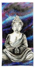 Galaxy Buddha  Bath Towel