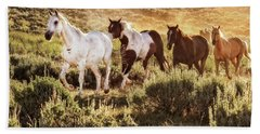 Galloping Down The Mountain Hand Towel