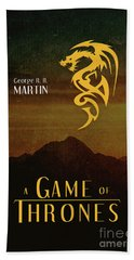 Game Of Thrones A Song Of Ice And Fire Book Series Art 2 Bath Towel