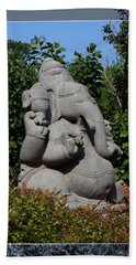 Bath Towel featuring the photograph Ganesha In The Garden by Debi Dalio