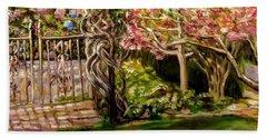 Garden Gate At Evergreen Arboretum Bath Towel