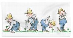 Garden Guy Planting Bath Towel