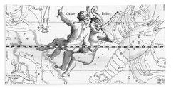 Gemini Engraving From A Celestial Atlas  Bath Towel
