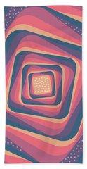 Geometric Abstract Pattern - Retro Pattern - Spiral 2 - Deep Blue, Purple, Magenta, Red Bath Towel