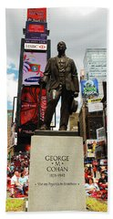 George M Cohan At Times Square Bath Towel