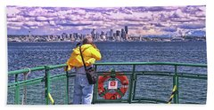 Getting The Shot - Seattle Bath Towel