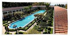 Getty Pano Courtyard Museum Villa Malibu Santa Monica  Bath Towel