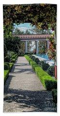 Getty Villa Pathway California  Bath Towel