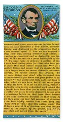 Gettysburg Address By Abraham Lincoln Hand Towel