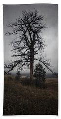 Bath Towel featuring the photograph Ghostly Snag by Dan Miller