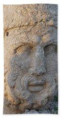 Giant Head Of Heracles,  Tumulus Bath Towel