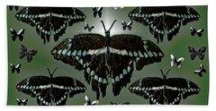 Giant Swallowtail Butterflies Bath Towel