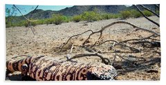 Gila Monster In The Arizona Sonoran Desert Bath Towel