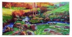 Gilded Hillside Hand Towel