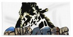 Giraffe Big Letter Bath Towel