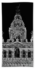 Giralda Tower In Monochrome. Seville Hand Towel