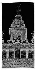 Giralda Tower In Monochrome. Seville Bath Towel