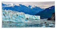 Glacier Calving Alaska  Bath Towel