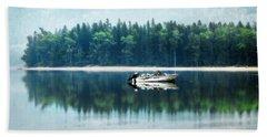 Glacier National Park Lake Reflections Bath Towel