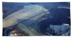 Glaciers Converge Hand Towel