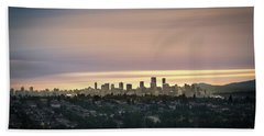 Gloden Sky On Vancouver Hand Towel
