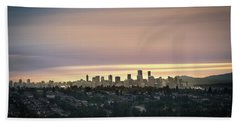 Gloden Sky On Vancouver Bath Towel