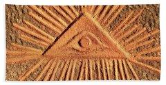 God's Eye - Old Relief Bath Towel