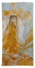 Golden Angel Bath Towel