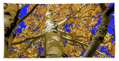 Golden Aspens In Grand Canyon Bath Towel