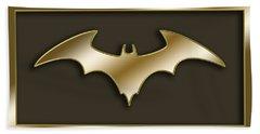 Golden Bat Bath Towel