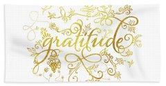 Golden Gratitude Hand Towel