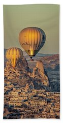 Golden Hour Balloons Bath Towel