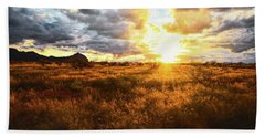 Golden Light Of Southern Arizona Bath Towel