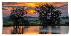 Golden Pond At 36x60 Hand Towel