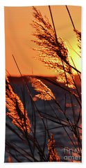 Bath Towel featuring the photograph Golden Reeds by Patti Whitten