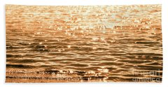 Golden Reflections Bath Towel